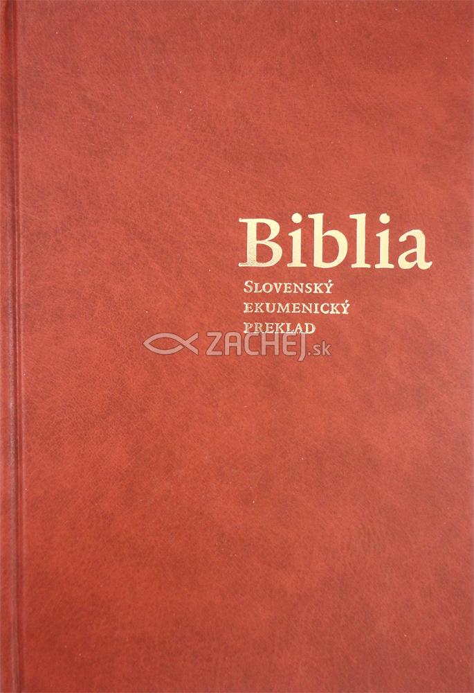 Ekumenická Biblia bez deuterokánonických kníh - viazaná (pevná) väzba