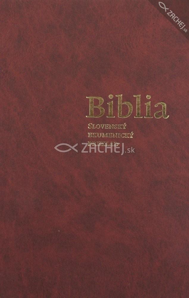 Biblia - Ekumenický preklad + DT knihy - viazaná (pevná) väzba