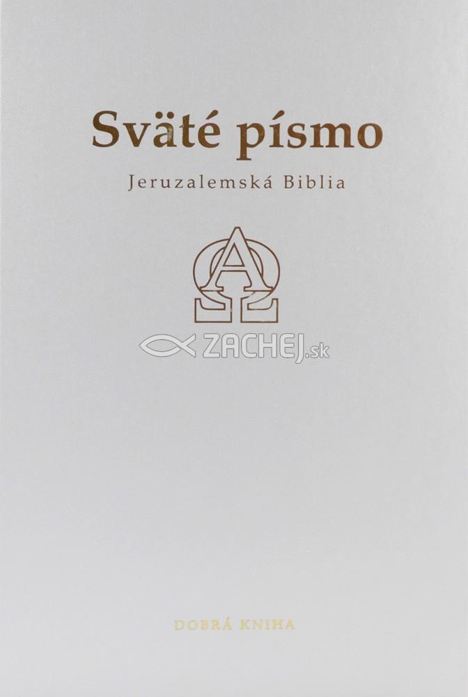 Sväté písmo - Jeruzalemská Biblia (biela so zlatorezom)