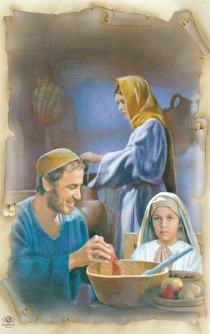 Kalendár 2014 - kartička Svätej rodiny - kalendár - kartička