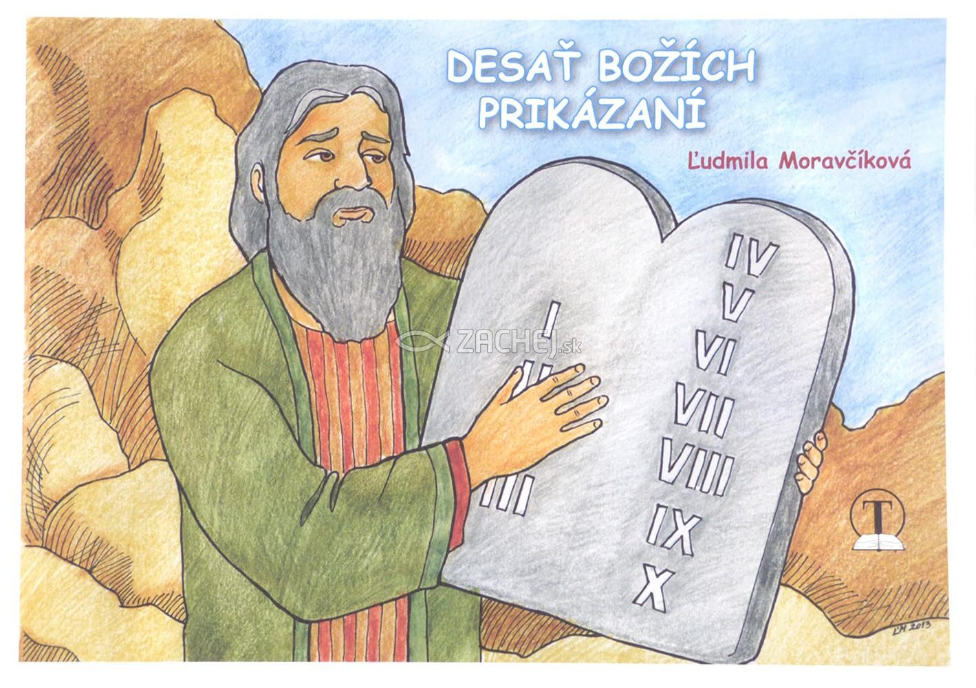 Omaľovánka - Desať Božích prikázaní