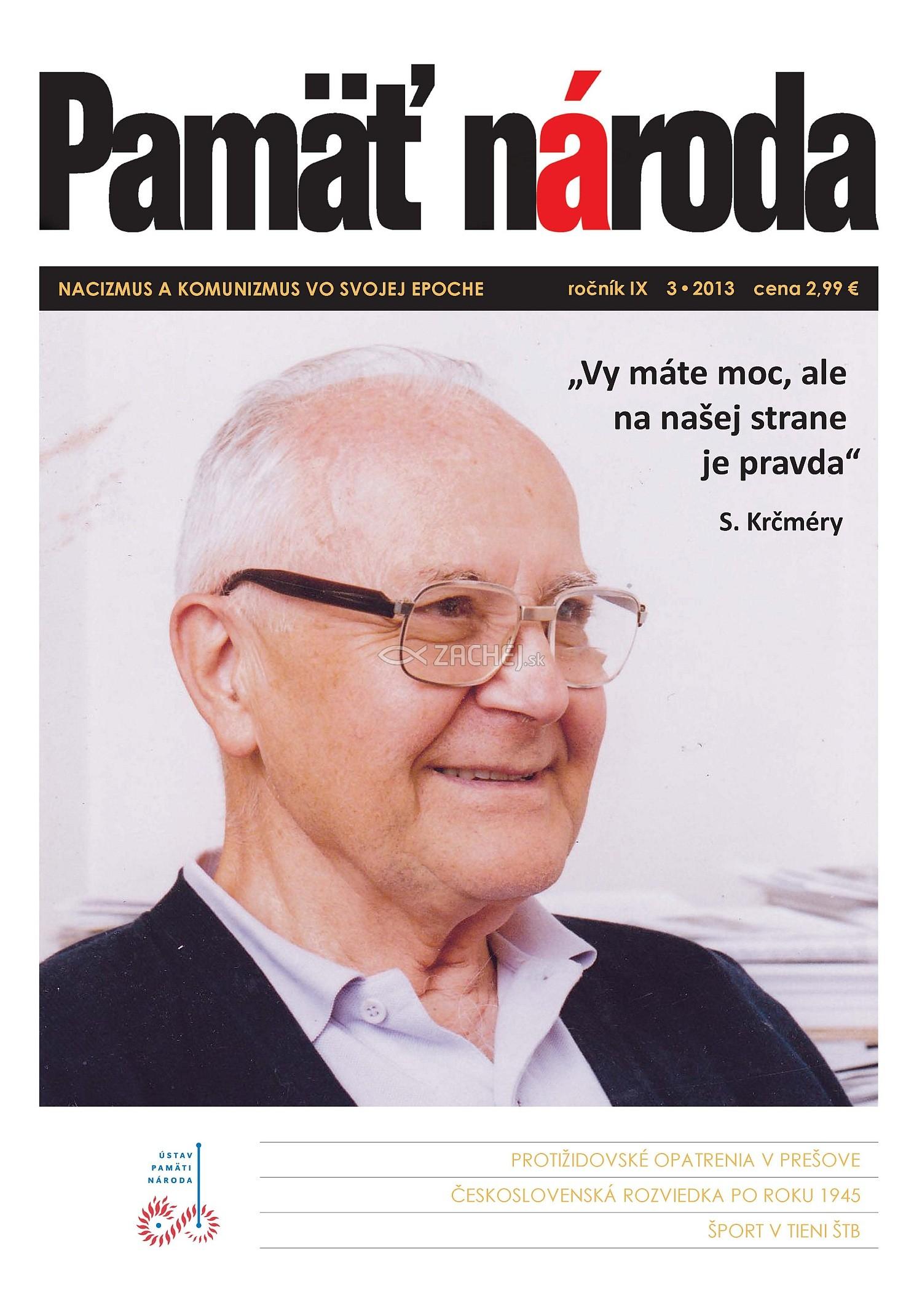 Časopis Pamäť národa 3/2013