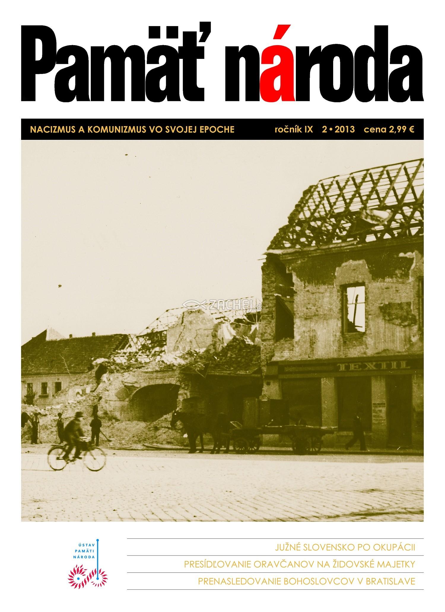Časopis Pamäť národa 2/2013