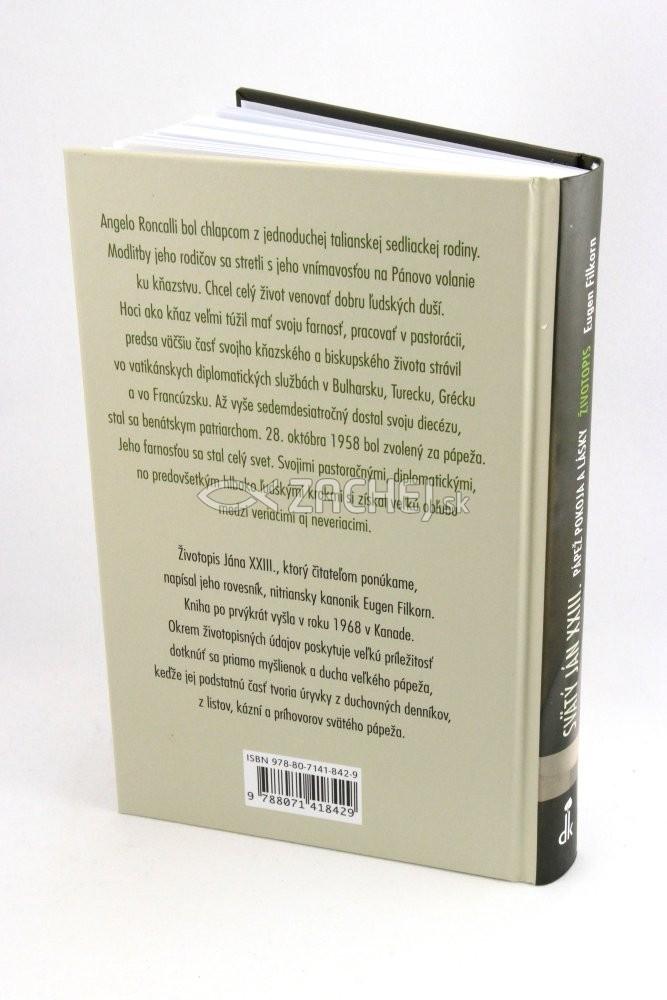 Zachej Sk Kniha Svaty Jan Xxiii Papez Pokoja A Lasky Eugen