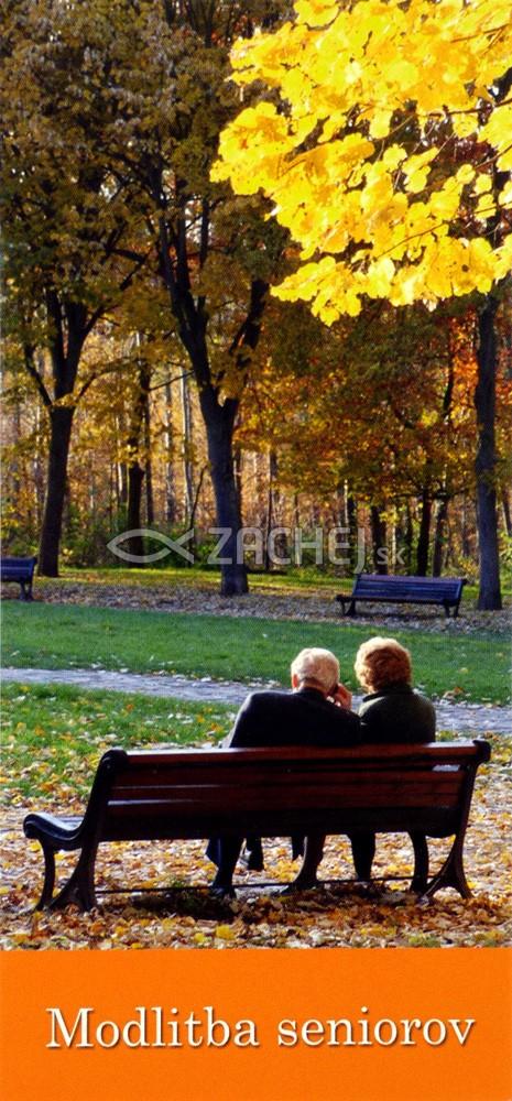 Záložka: Modlitba seniorov (Z-120SK) - kartónová záložka s modlitbou