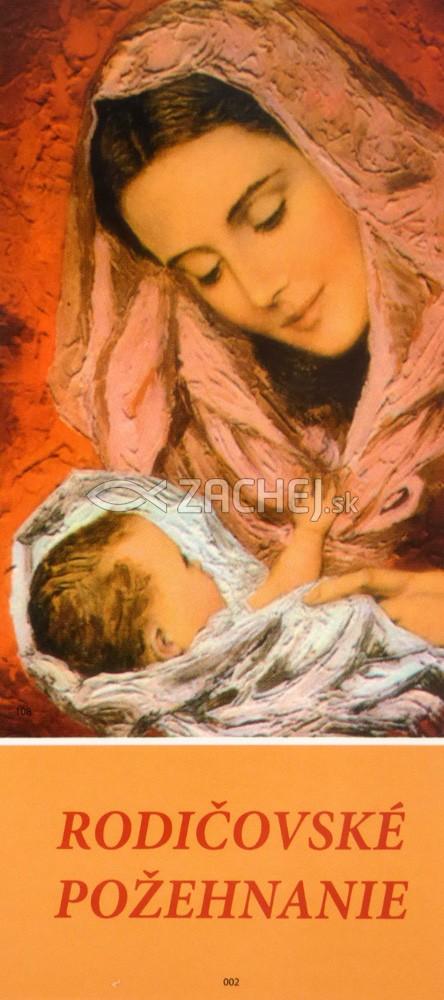 Záložka: Rodičovské požehnanie (JH) - laminovaná