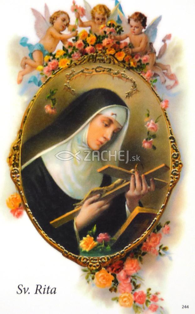 Obrázok: Sv. Rita z Cascie (244/169) - Modlitba k patrónke nemožných vecí, laminovaný