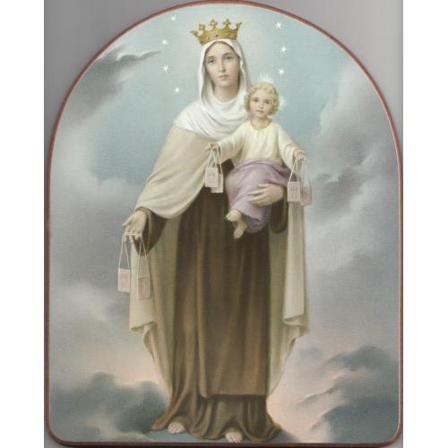 Obraz na dreve: Panna Mária Škapuliarska - 25x20 (471)