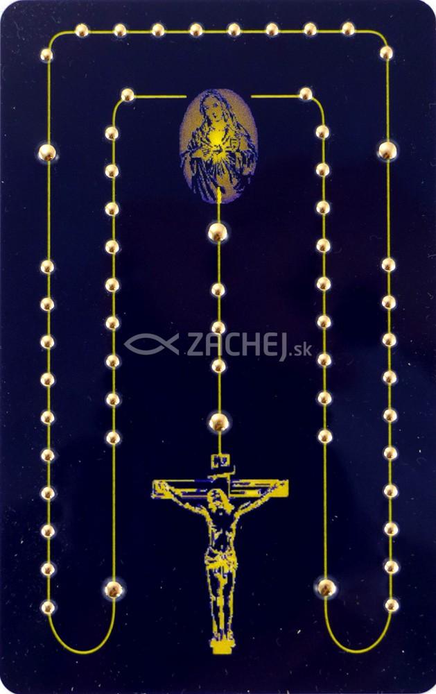 Karta s tajomstvami posvätného ruženca