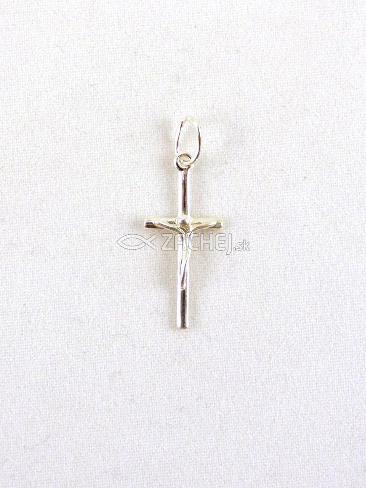 411c5f996 Zachej.sk • Prívesok: krížik - strieborný (2) • skladom
