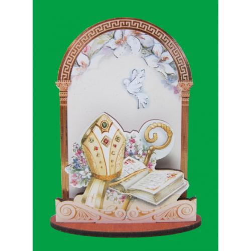 Oltárik: biskupská mitra (PRC 08)