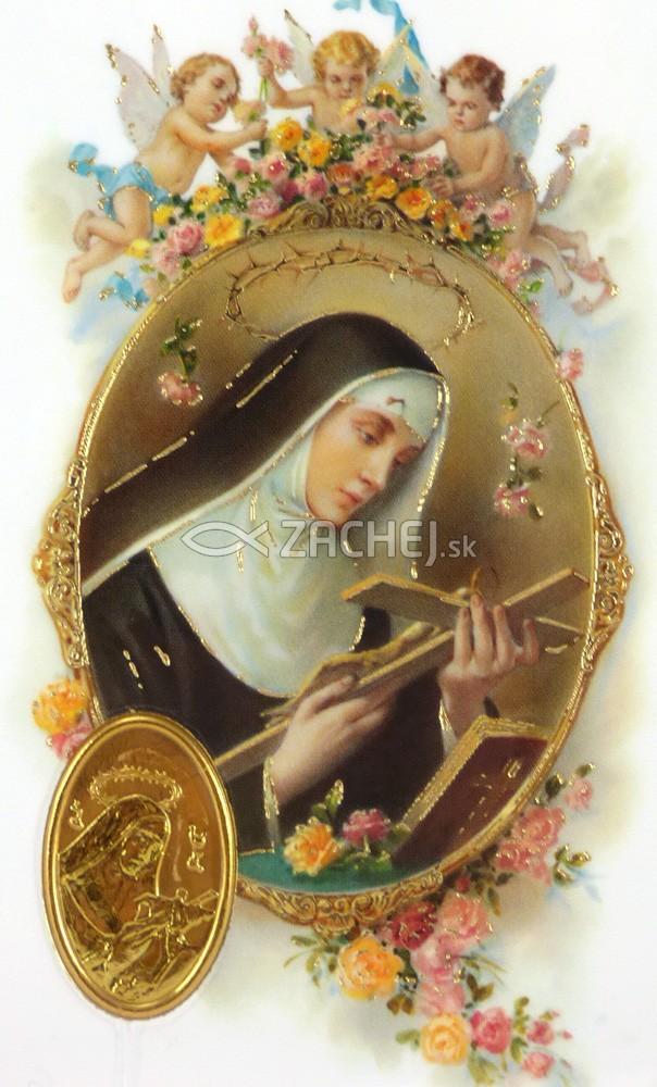 Kartička: sv. Rita (RCC) - Ruženec k sv. Rite, plastová