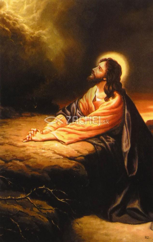 Obrázok: Pán Ježiš (82/187) - Modlitba za duše v očistci, laminovaný