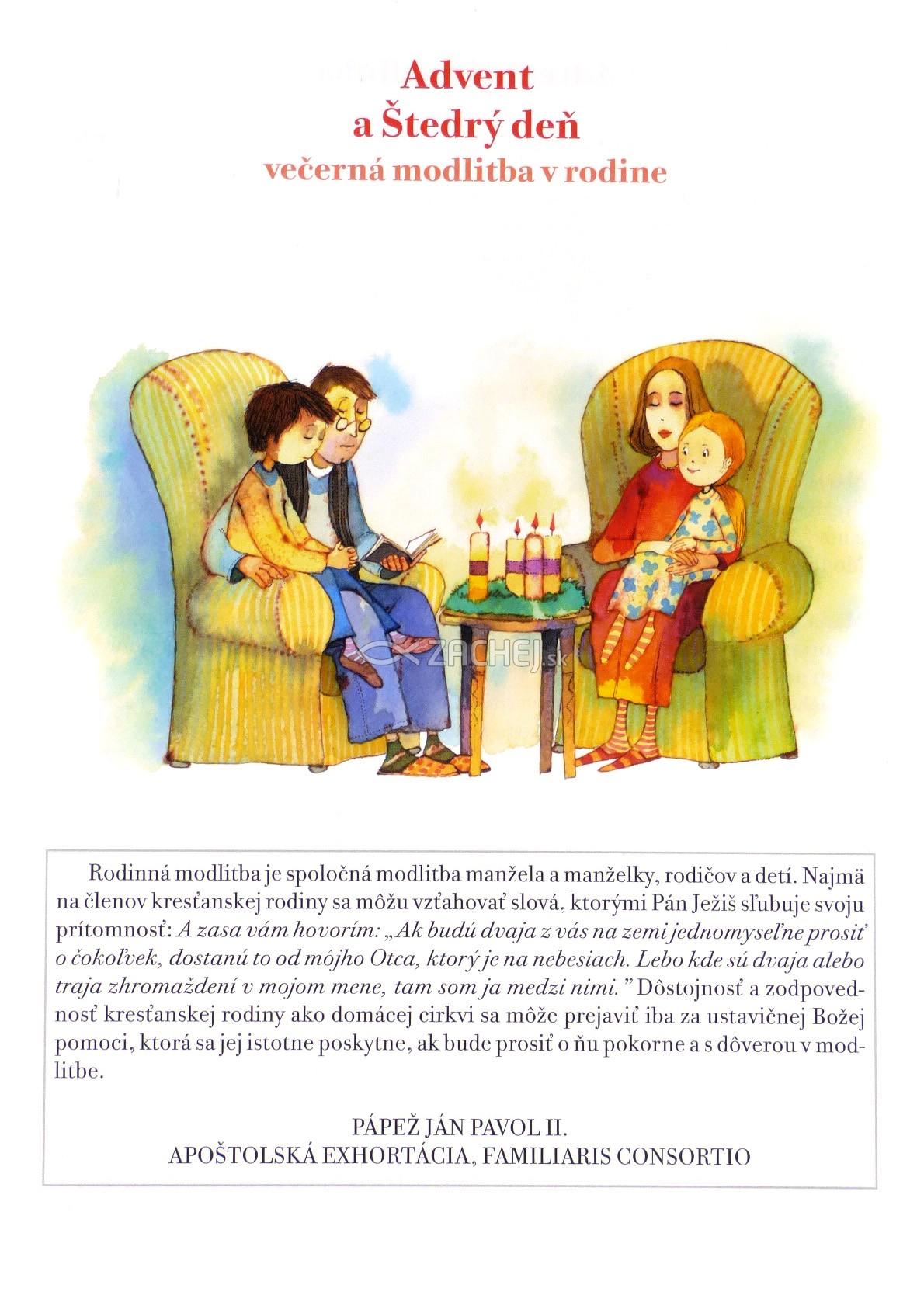 Skladačka: Advent a Štedrý deň - večerná modlitba v rodine