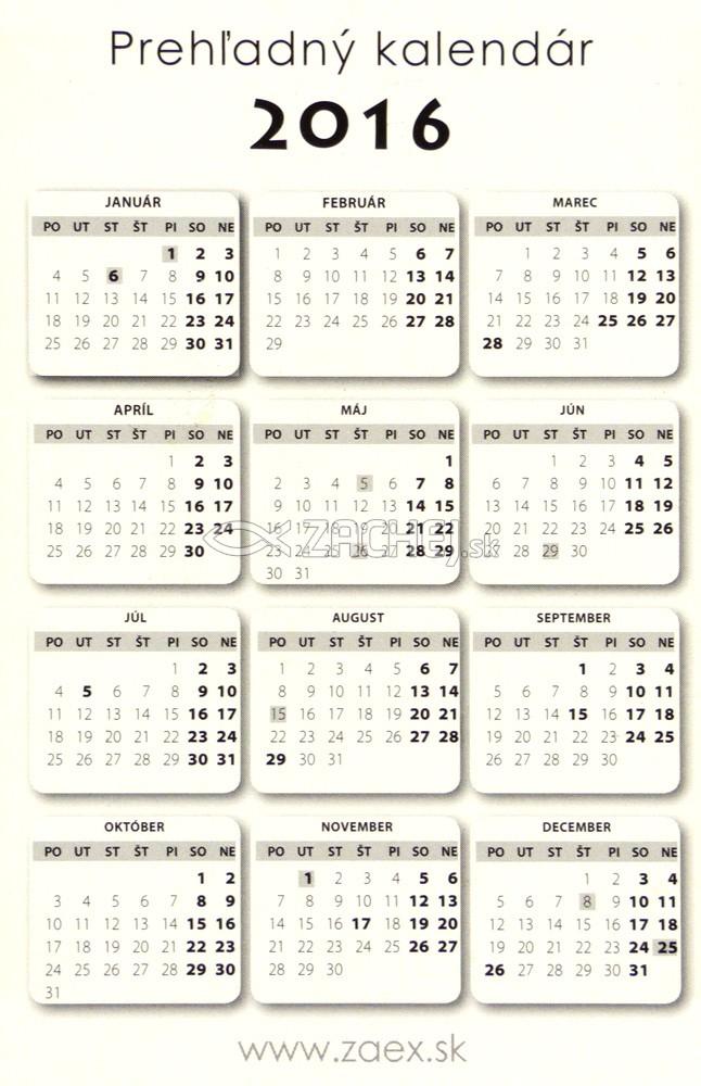 foto kalendar sk Zachej.sk • Kalendár 2016   kartičkový (motív 1) foto kalendar sk