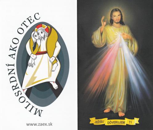 Skladačka: Svätý rok Milosrdenstva - s modlitbou, papierová