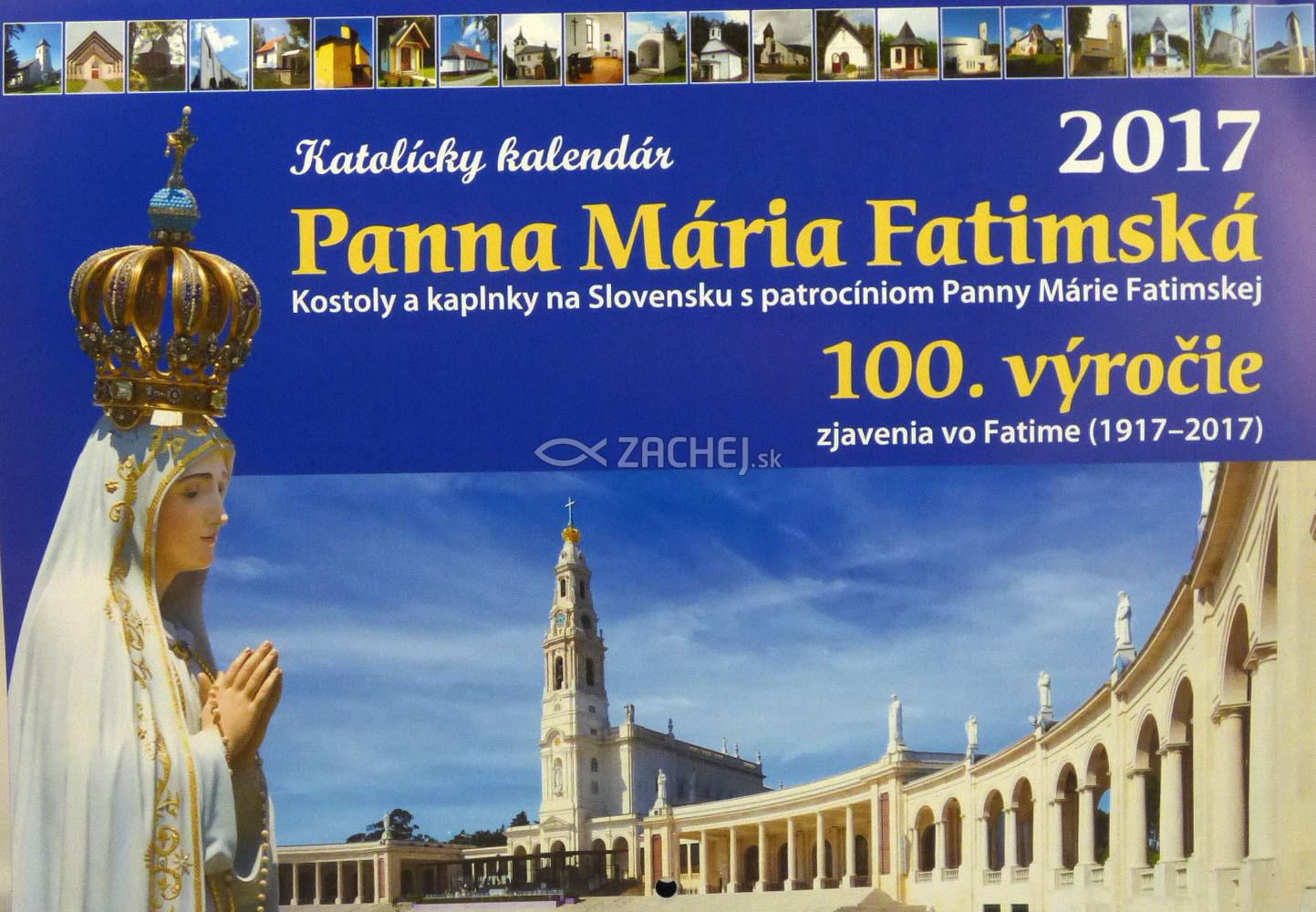 Katolícky kalendár Panna Mária Fatimská (nástenný) 2017