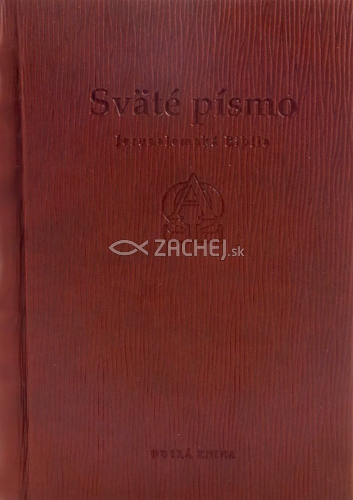 Sväté písmo - Jeruzalemská Biblia (stredná, hnedá s reliéfom)