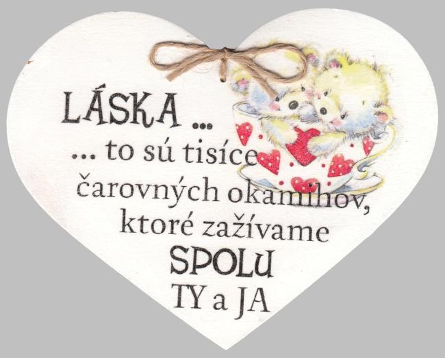 Drevené srdce: Láska... to sú tisíce čarovných okamihov...