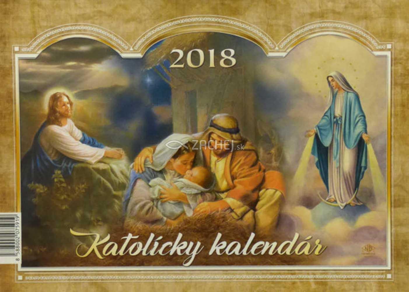katolicky kalendar Zachej.sk • Katolícky kalendár 2018 (stolový) / VIA katolicky kalendar