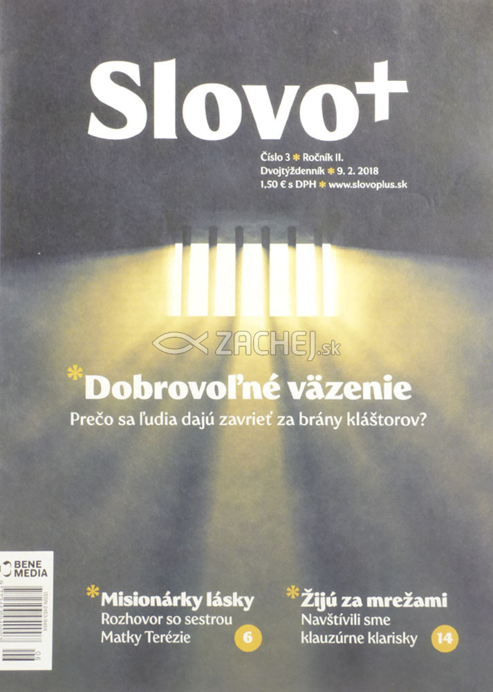 Časopis: Slovo+ 3/2018 - Kresťanské noviny, dvojtýždenník