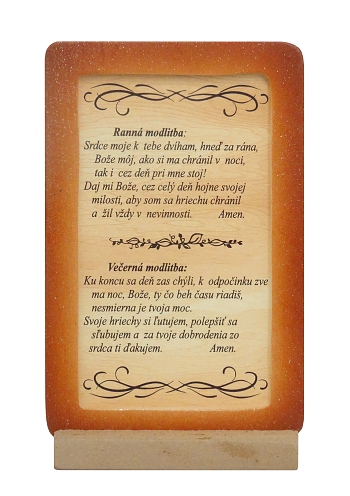 Citát na dreve: Ranná modlitba, Večerná modlitba (94)