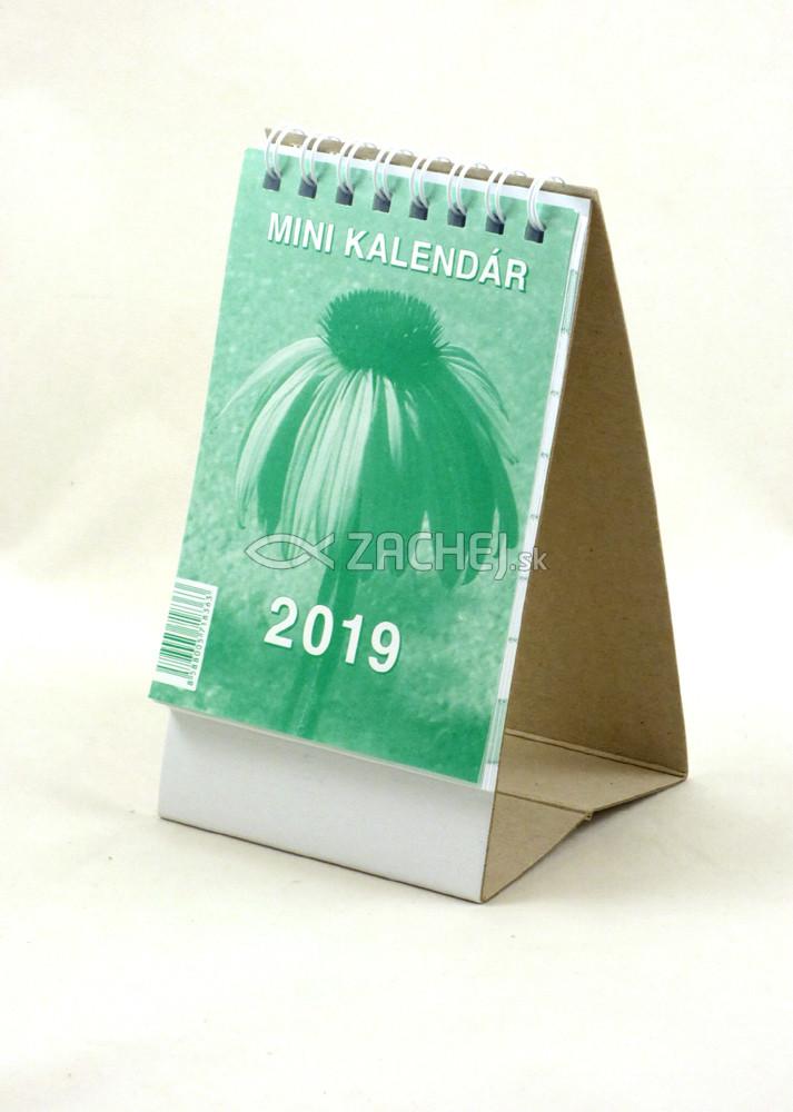 Mini kalendár: stolový, zelený - 2019 (NEO)