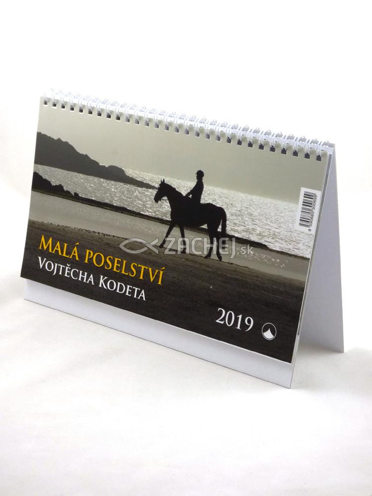 Kalendář: Malá poselství Vojtěcha Kodeta, stolový -  2019 (KNA) - český