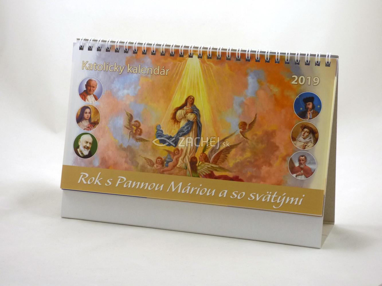 Kalendár: katolícky, stolový - 2019 - Rok s Pannou Máriou a so svätými
