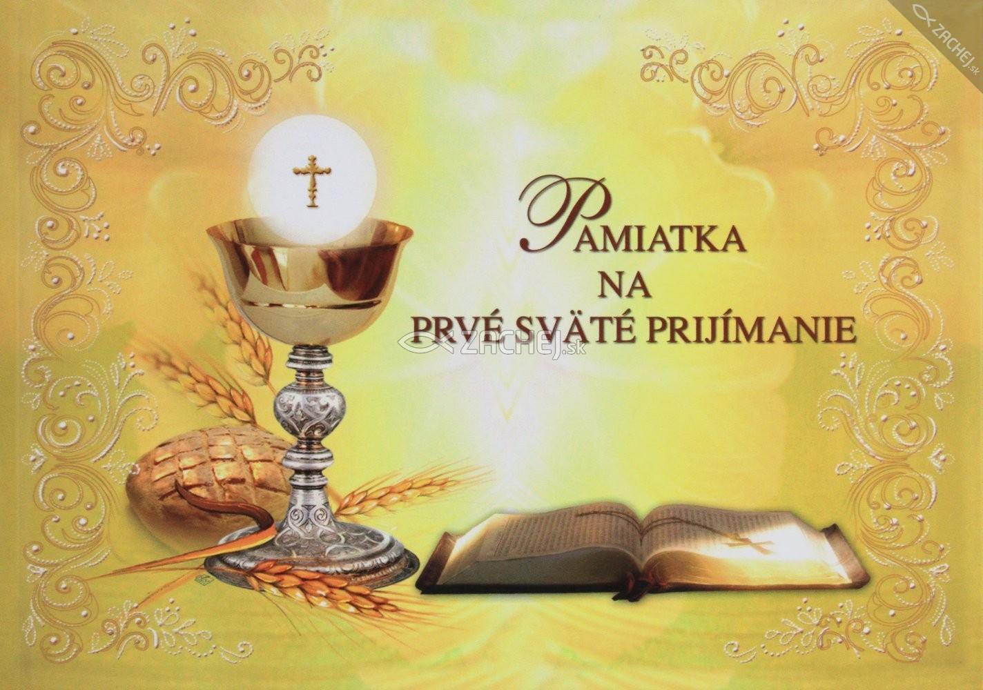 Pamiatka na prvé sväté prijímanie