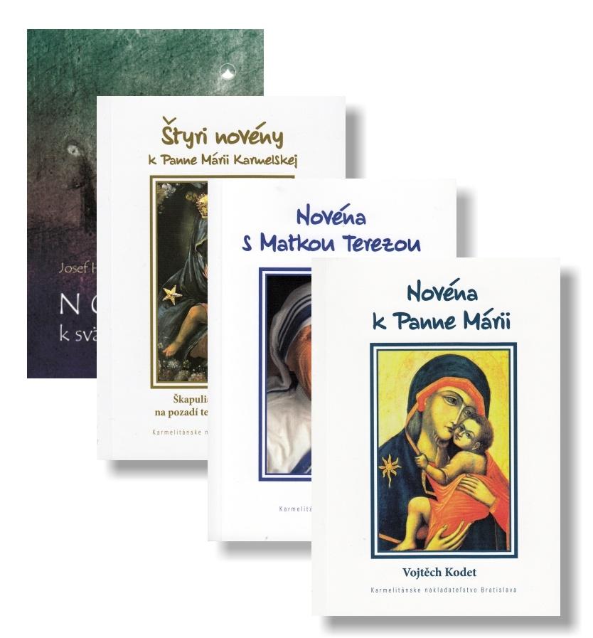 Sada: Novéna k Panne Márii + Novéna k svätému Jozefovi + Novéna s Matkou Terezou + Štyri novény k Panne Márii Karmelskej (KNA4)