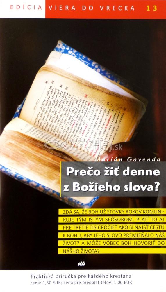 Prečo žiť denne z Božieho slova? - 13/2012