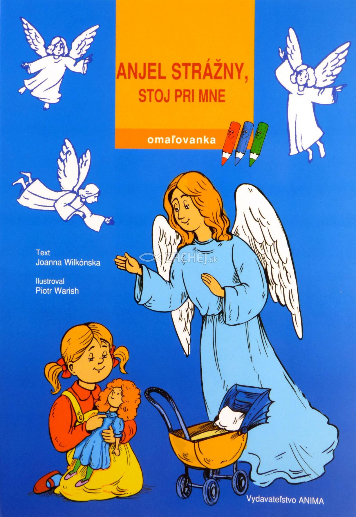 Omaľovanka - Anjel strážny, stoj pri mne