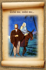 Tichá noc, svätá noc... (vianočná magnetka) - Magnetky  Zvitky  vianočné