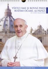 Kalendár 2014 - Svätý Otec František (A4) - nástenný kalendár