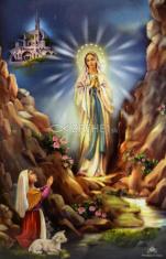 Obrázok: Lurdská Panna Mária - smútočný (9058)