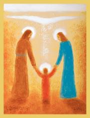 Obraz na dreve: Svätá rodina - Záborský (30x20)