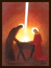 Obraz: Príchod Svetla z neba do Betlehema (Záborský, 40 x 30 cm)