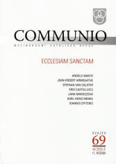 Communio 4/2013 - Mezinárodní katolická revue. 17. ročník - svazek 69 - Ecclesiam Sanctam