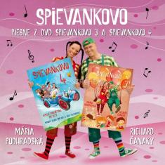 CD - Piesne z DVD Spievankovo 3 a Spievankovo 4 - (31 piesní na CD-čku)