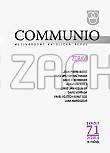 Communio 2/2014 - Mezinárodní katolická revue. 18. ročník - svazek 71 - Zdraví