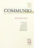 Communio 3/2014 - Mezinárodní katolická revue. 18. ročník - svazek 72 - Ecclesiam unam