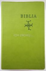 Biblia s biblickými mapami (zelená) - stredne veľký formát, katolícky preklad, koženka