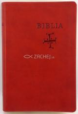 Biblia s biblickými mapami (červená) - stredne veľký formát, katolícky preklad, koženka