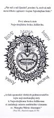 Záložka: Prvý obraz k úcte Najsvätejšieho Srdca Ježišovho - obojstranná záložka