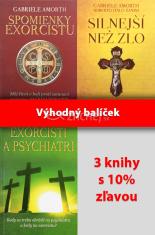 Sada 3 x Amorth: Spomienky exorcistu; Silnejší než zlo; Exorcisti a psychiatri - Balíček 3 kníh za výhodnú cenu