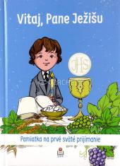 Vitaj, Pane Ježišu (modrá) - Pamätná kniha pre prvoprijímajúceho chlapca
