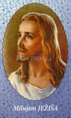 Obrázok: Pán Ježiš (96/180) - Modlitba za priateľov, laminovaný