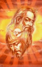 Obrázok: Najsvätejšia Trojica (68/120) - Modlitba k Duchu svätému; laminovaný