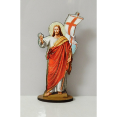 Zmŕtvychvstalý Kristus, drevený - na postavenie